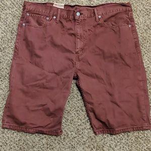 Levi's men's 508 shorts burgundy 38